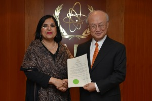 Pakistan's CPPNM Signing. Photo Credit: IAEA Imagebank