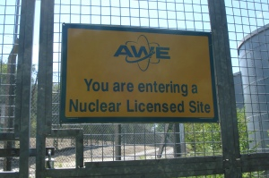 Atomic Weapons Establishment Aldermaston. Photo Credit: Nuclear Information Service